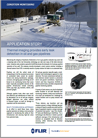 FLIR has published an application story featuring IntelliView's automated and analytic visual-based leak detection system designed for real-time, above-ground facilities, including liquids pipeline, pump stations, pig traps, pig receivers, and storage tanks. https://intelliviewtech.com