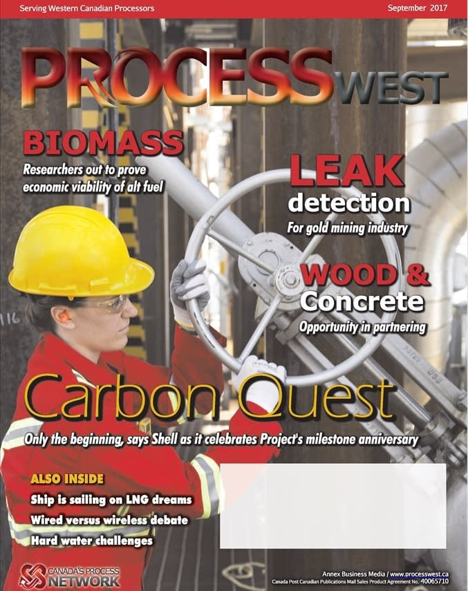 PROCESSWest magazine September 2017 issue featuring IntelliView DCAM leak detection system for mining