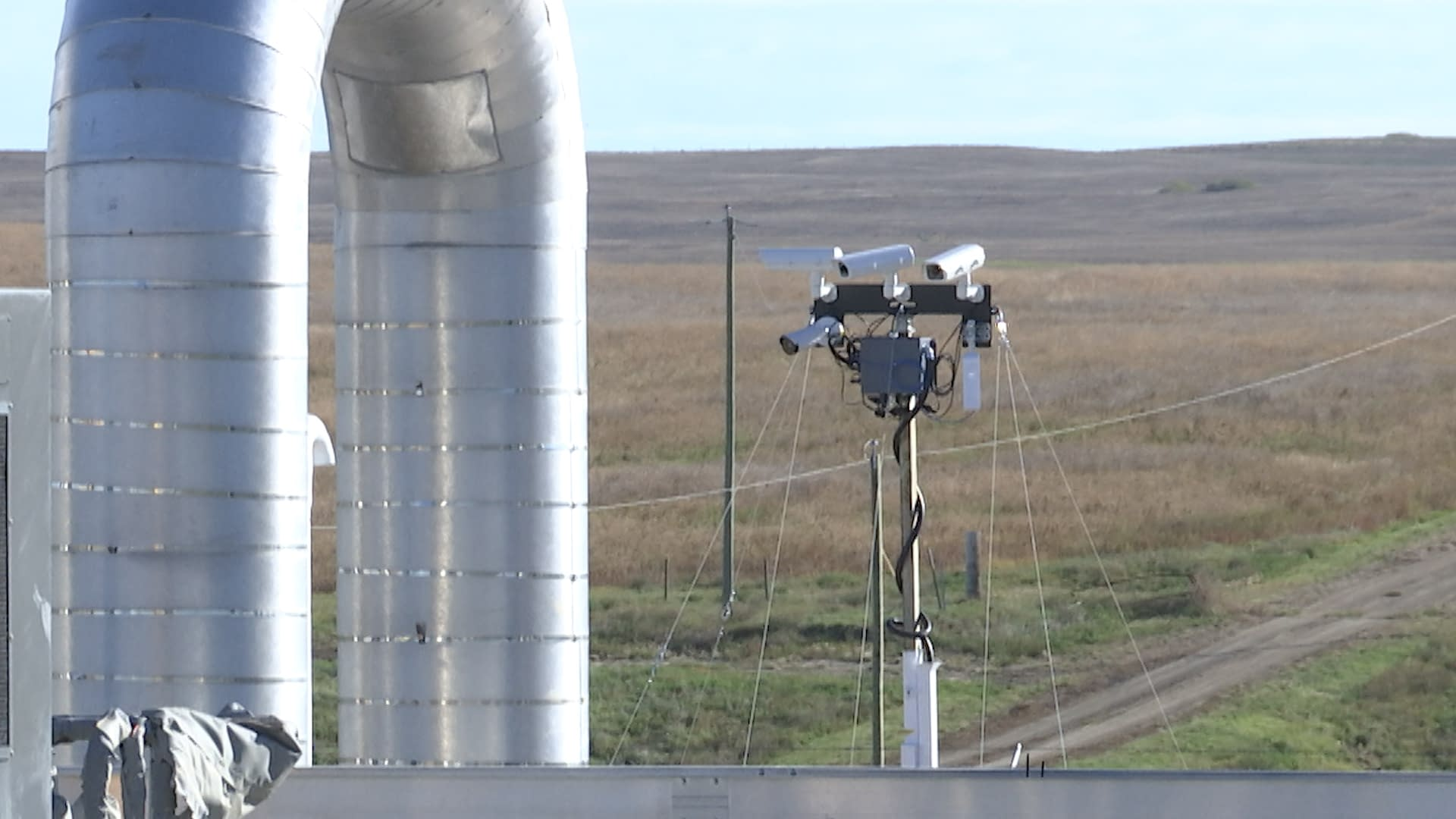 IntelliView leak and security analytic camera system watching over a TransCanada Keystone Pipeline pump station.