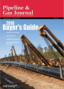 Pipeline & Gas Journal Cover May 2018