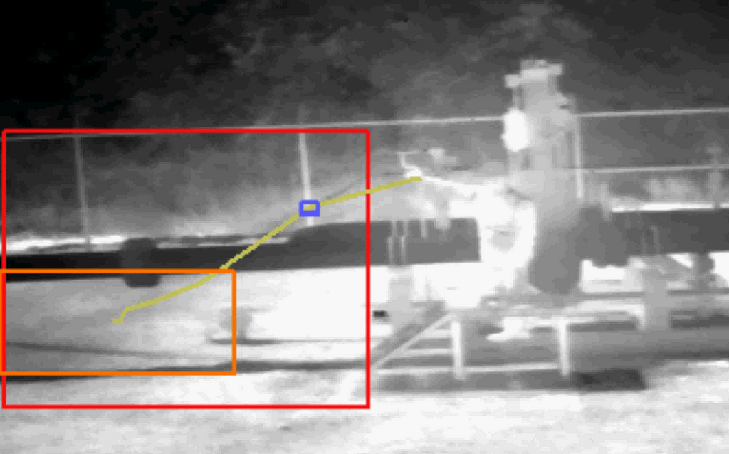 IntelliView DCAM-M detects a methane leak from a valve